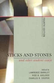Cover of: Sticks and stones and other student essays