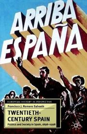 Cover of: Twentieth-Century Spain