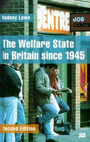 Cover of: The Welfare State in Britain since 1945