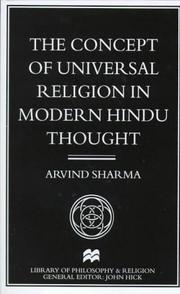 Cover of: The concept of universal religion in modern Hindu thought
