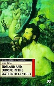Cover of: England and Europe in the sixteenth century