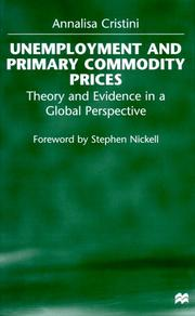 Cover of: Unemployment and primary commodity prices