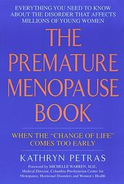 Cover of: The premature menopause book