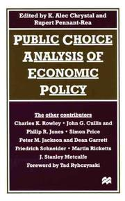 Cover of: Public choice analysis of economic policy