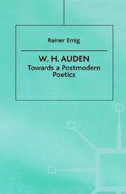 Cover of: W.H. Auden
