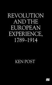 Cover of: Revolution and the European experience, 1789-1914