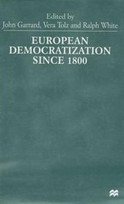 Cover of: European democratization since 1800