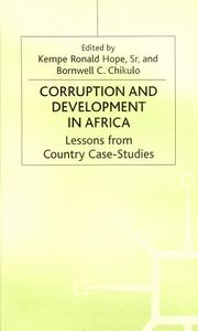 Cover of: Corruption and development in Africa