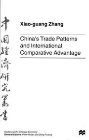 Cover of: China's trade patterns and international comparative advantage