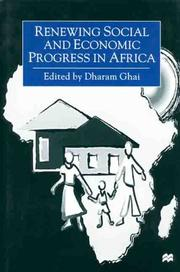 Cover of: Renewing Social and Economic Progress in Africa