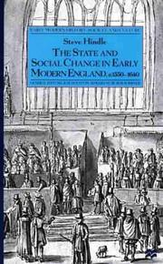 Cover of: state and social change in early modern England, c. 1550-1640 | Steve Hindle