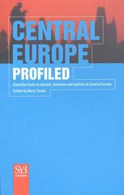 Cover of: Central Europe Profiled | Barry Turner