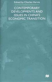 Cover of: Contemporary Developments and Issues in China's Economic Transition