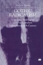 Cover of: Gothic radicalism