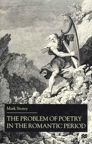 Cover of: The problem of poetry in the Romantic period |