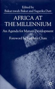 Cover of: Africa at the millennium |