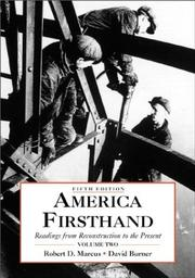 Cover of: America Firsthand |