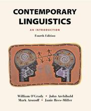 Cover of: Contemporary Linguistics | William O