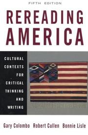 Cover of: Rereading America |