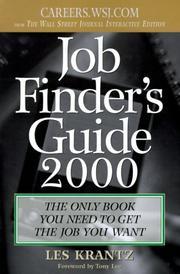 Cover of: Job Finder's Guide, 2000