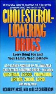 Cover of: Cholesterol-lowering drugs