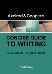 Cover of: Axelrod & Cooper's concise guide to writing