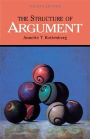 Cover of: The structure of argument