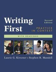Cover of: Writing First: practice in context : with readings