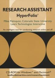 Cover of: Research Assistant Hyperfolio | Mike Palmquist