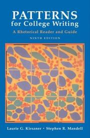 Cover of: Patterns for College Writing | Stephen R. Mandell