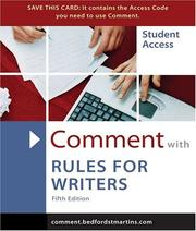 Cover of: Comment for Rules for Writers | Diana Hacker