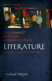 Cover of: Compact Bedford Introduction to Literature with Book(s)
