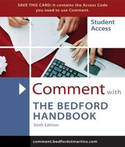 Cover of: Comment for Bedford Handbook 6e | Walter Creed