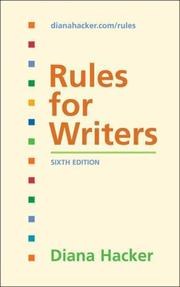 Cover of: Rules for Writers | Diana Hacker