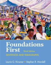 Cover of: Foundations first