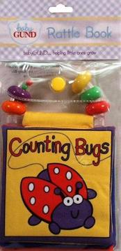 Baby Gund Rattle Cloth Book Counting Bugs (Baby Gund Rattle Book)