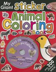 Cover of: My Giant Sticker Animal Coloring Book+CD