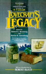 Cover of: Lovecraft's Legacy: A Centennial  Celebration of H.P. Lovecraft