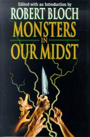 Cover of: Monsters in Our Midst (Psycho Files)