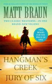 Cover of: Hangman's Creek / Jury of Six