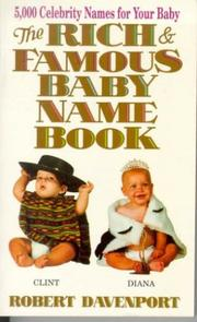 Cover of: The rich & famous baby name book