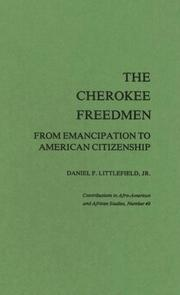 Cover of: The Cherokee freedmen