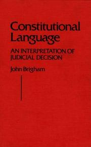 Cover of: Constitutional language