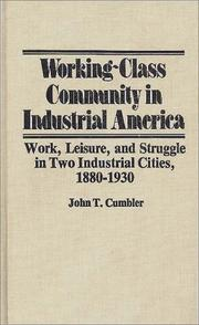 Cover of: Working-class community in industrial America