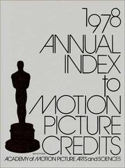 Annual Index to Motion Picture Credits 1978