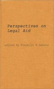 Cover of: Perspectives on legal aid |