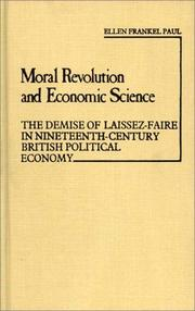 Cover of: Moral revolution and economic science