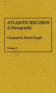 Cover of: Atlantic Records V3 | Ruppli