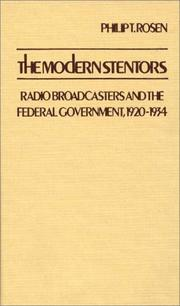 Cover of: modern stentors | Philip T. Rosen