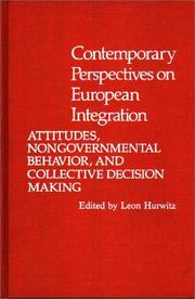 Cover of: Contemporary perspectives on European integration |